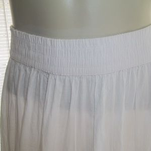 Studio West Skirts - Studio West Boho Maxi 100% Cotton White Skirt Sz L